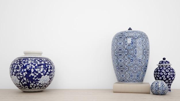 Vases Classiques Pour Décoration Intérieure Et Mur Blanc Psd gratuit