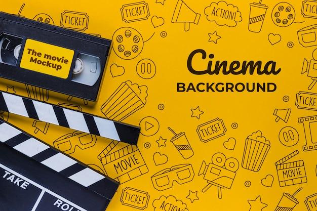 Vieux Ruban De Concept De Fond De Cinéma Psd gratuit