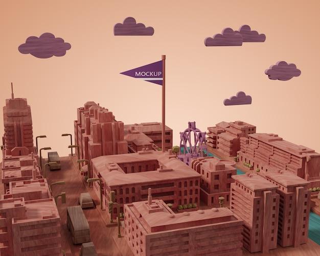 Villes Miniature De La Journée Mondiale Psd gratuit