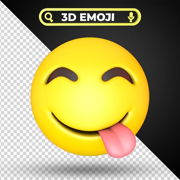 Visage Savourer De Délicieux Nourriture Emoji Isolé PSD Premium