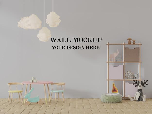Visualisation 3d De Maquette De Mur De Maternelle PSD Premium