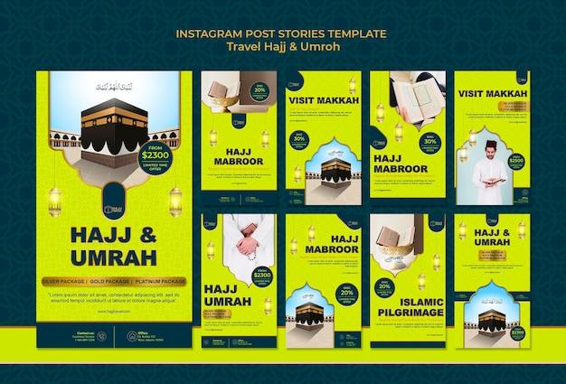 Voyage Hajj Et Omra Instagram Stories Psd gratuit