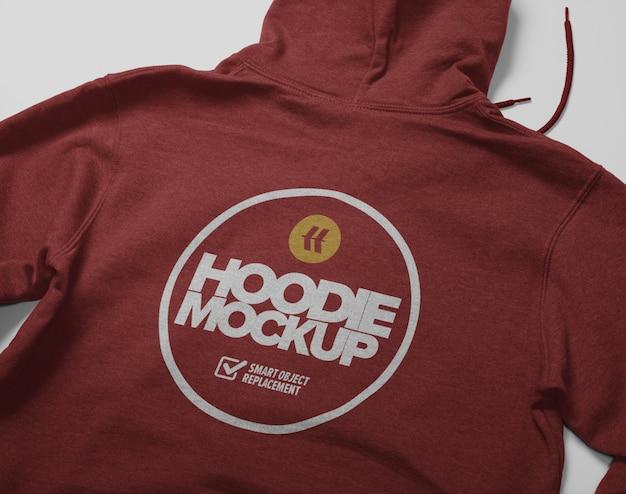 Vue Arrière De La Maquette De Hoodie Isolé PSD Premium