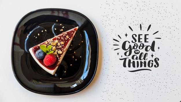 Vue De Dessus De Délicieux Gâteau Au Fromage Psd gratuit