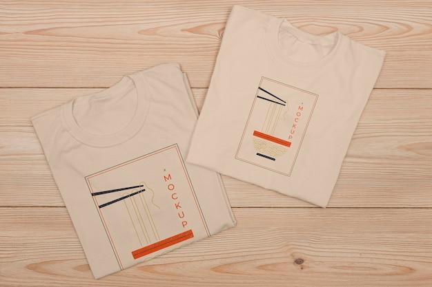 Vue De Dessus De La Maquette Du Concept De T-shirt Psd gratuit