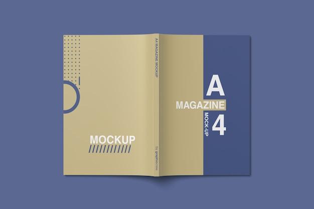 Vue De Dessus De La Maquette Du Magazine A4 Cover PSD Premium