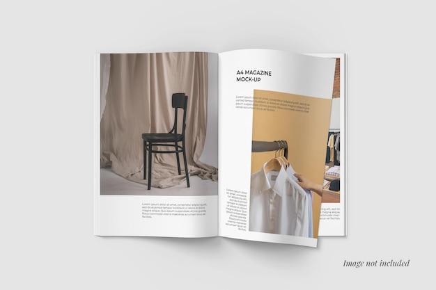 Vue De Dessus De La Maquette Du Magazine Ouvert Psd gratuit
