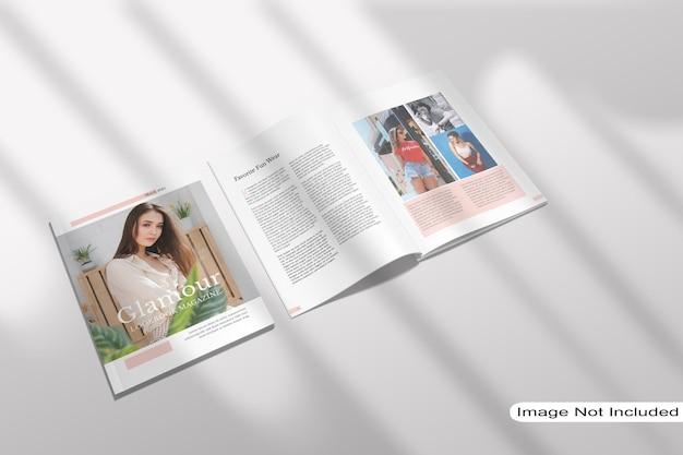 Vue De Dessus De Maquette De Magazine Ouvert PSD Premium