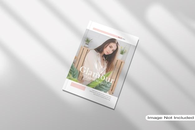 Vue De Dessus De Maquette De Magazine PSD Premium