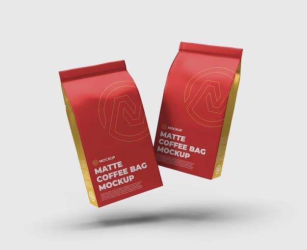 Vue De Face Du Flotteur De Maquette De Flotteur De Sac De Café Mat PSD Premium