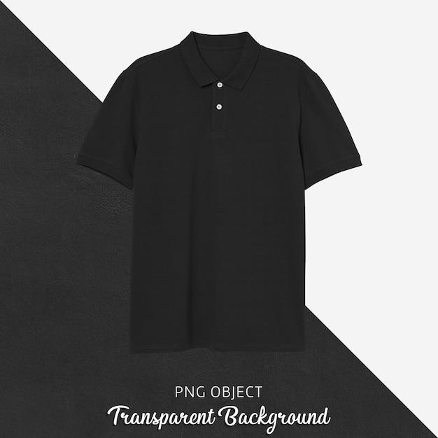 Vue De Face De La Maquette De Tshirt Polo Noir PSD Premium