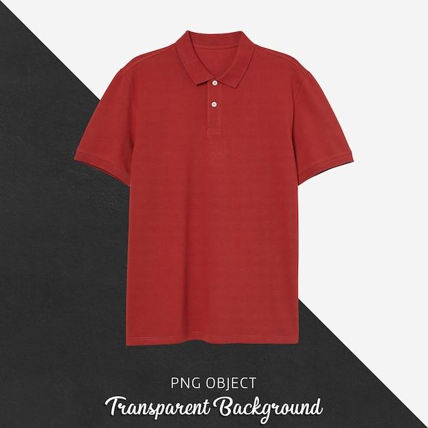 Vue De Face De La Maquette De Tshirt Polo Rouge PSD Premium