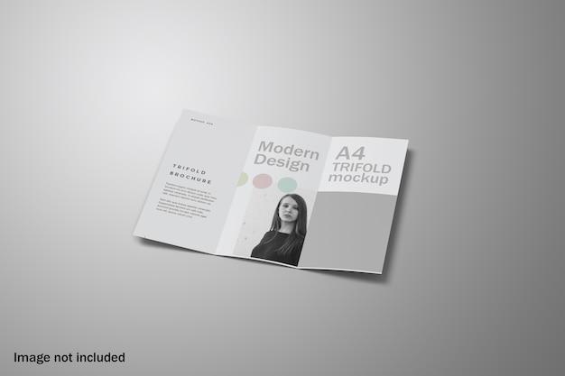 Vue Inclinable De La Maquette De La Brochure à Trois Volets PSD Premium