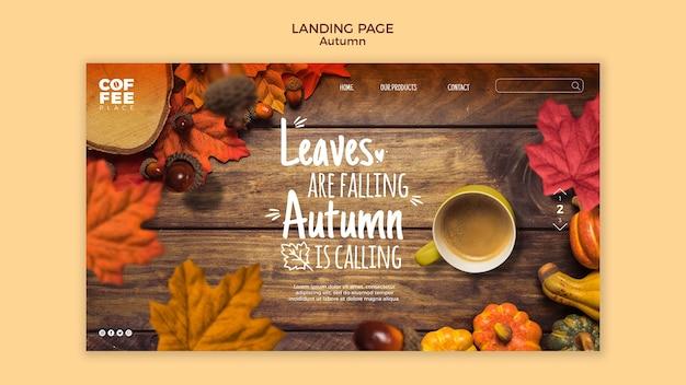 Webtemplate De Page De Destination D'automne Psd gratuit