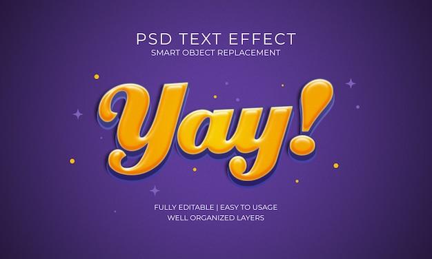 Yay! Effet Texte PSD Premium