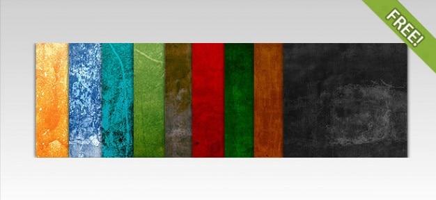 10 texturas coloridas Psd grátis