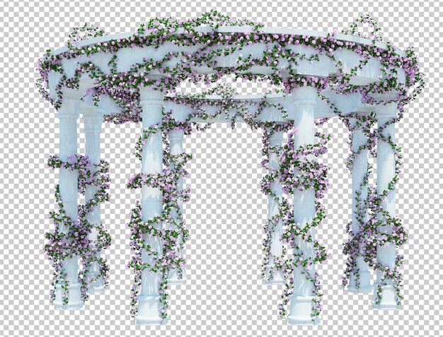 3d render brush tree isolado Psd Premium