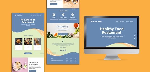 Abertura de restaurante web design de modelo Psd grátis