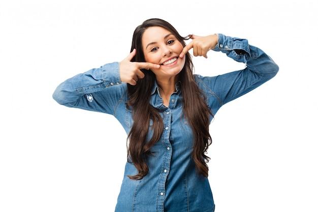 Adolescente alegre com um grande sorriso Psd grátis