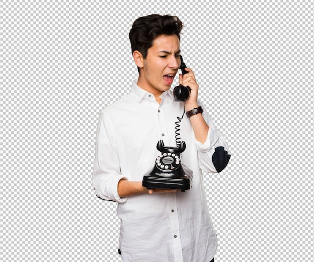 Adolescente, falando, telefone Psd Premium