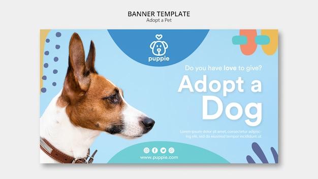 Adote um estilo de modelo de banner para animais de estimação Psd grátis
