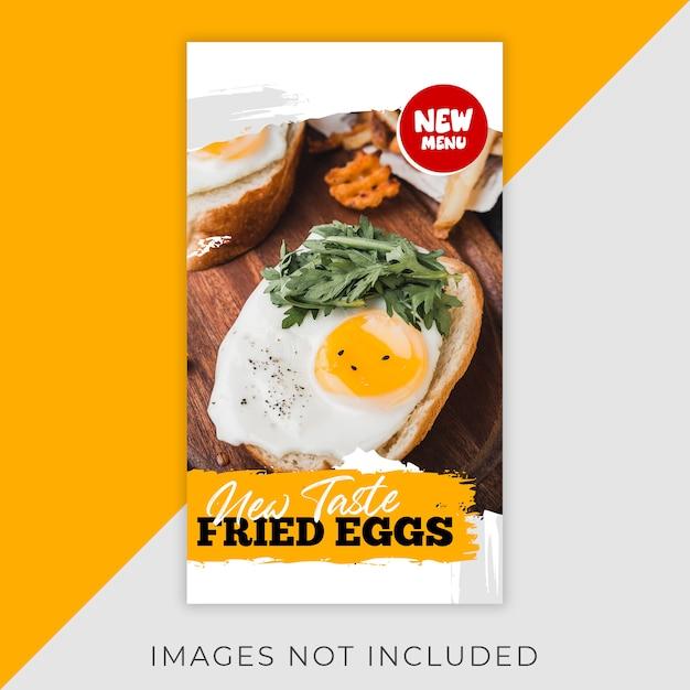 Alimentos instagram flyer stories template restaurant Psd Premium
