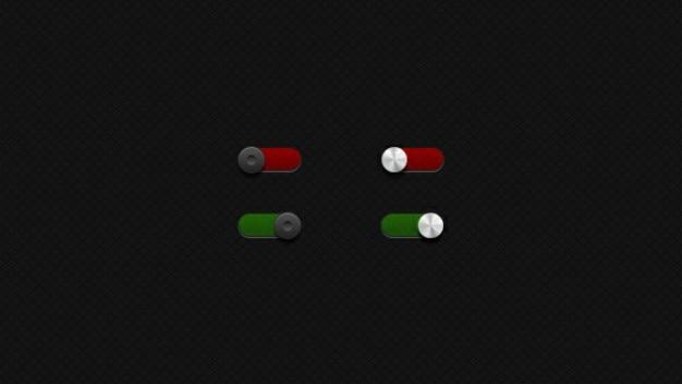 Alternar botão verde vermelho Psd grátis