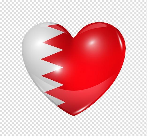 Amo o bahrein, ícone de bandeira do coração Psd Premium