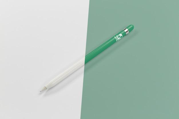 Ângulo alto da caneta para voltar às aulas Psd grátis