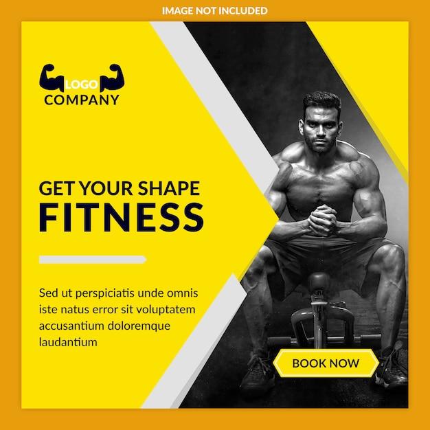 Anúncios de fitness Psd Premium