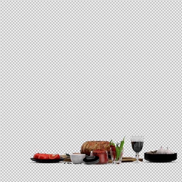 Aperitivos de tomate, carne na tábua de madeira com copo de vinho Psd Premium