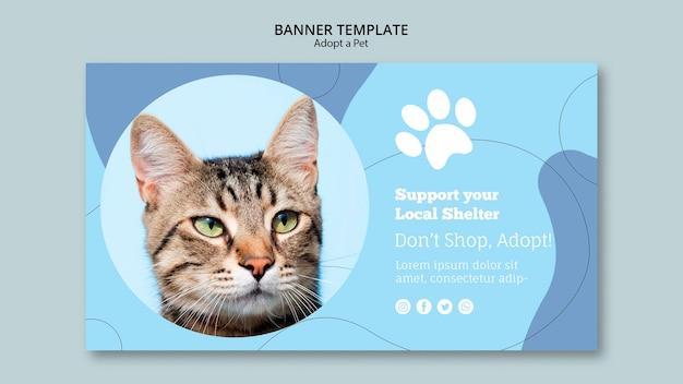 Apoie o seu modelo de banner para abrigo local Psd grátis