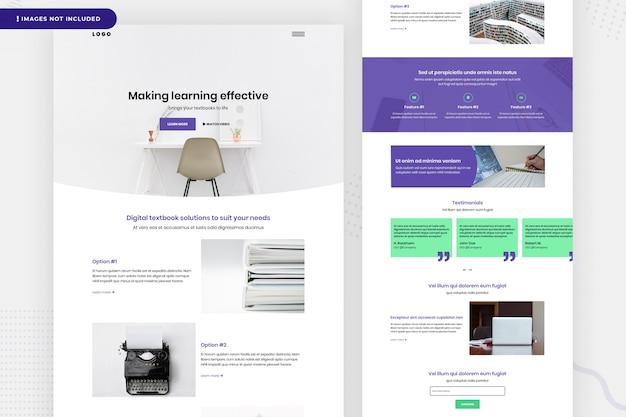 Aprendendo o design da página do site Psd Premium