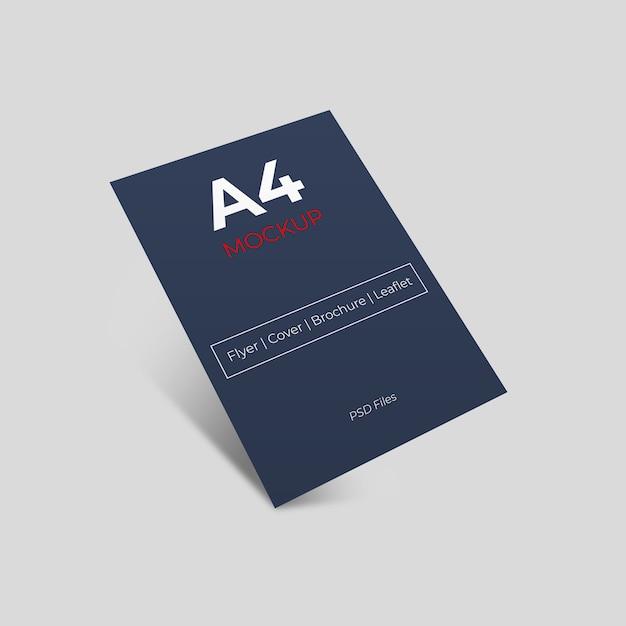 Apresentação do folheto com sombra traseira Psd Premium