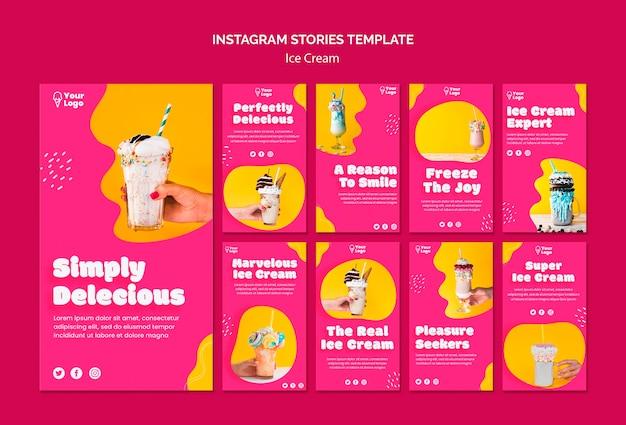 Aproveite as histórias do instagram de sorvete Psd grátis