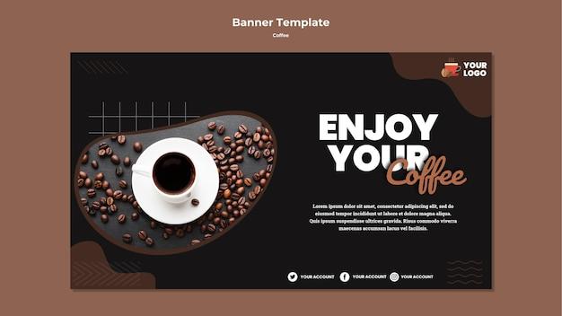 Aproveite o modelo de banner de café Psd grátis