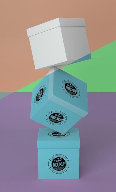 Arranjo de maquete de caixa de embalagem Psd grátis