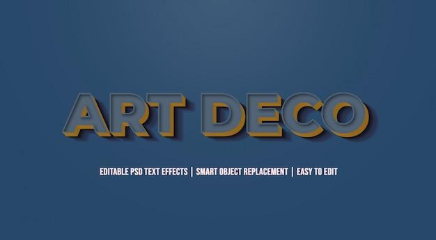 Art deco - efeitos de texto antigos do vintage Psd Premium