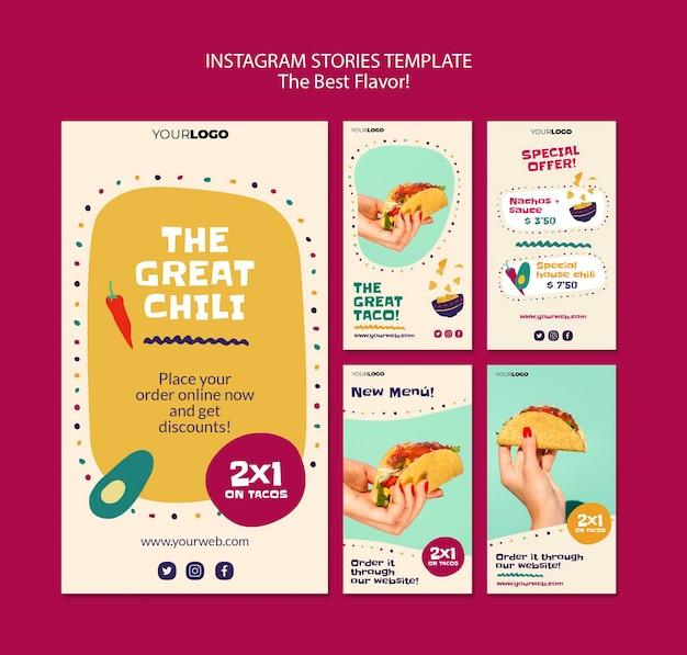 As melhores histórias de sabores do instagram Psd grátis