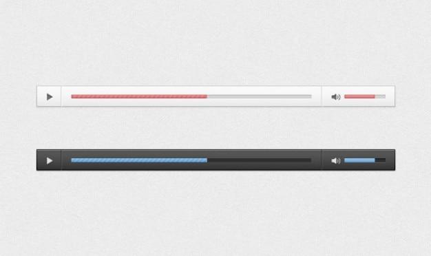 Áudio player 2 psd Psd grátis