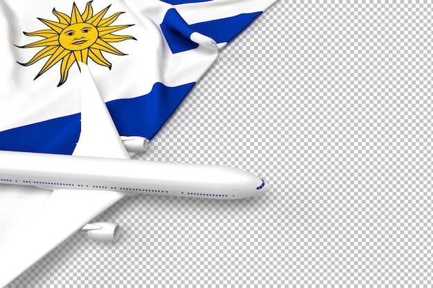 Avião de passageiros e bandeira da argentina Psd Premium
