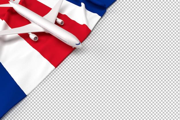 Avião de passageiros e bandeira da tailândia Psd Premium