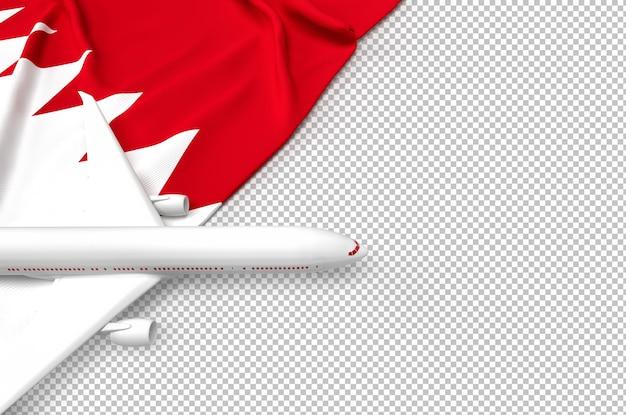 Avião de passageiros e bandeira do qatar Psd Premium