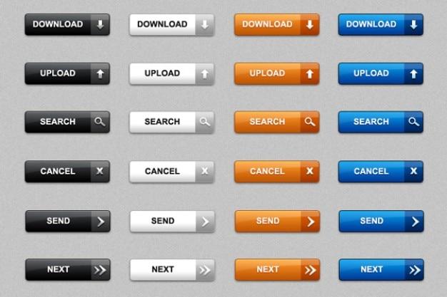 Baixar botões web em psd e png pacote de Psd grátis