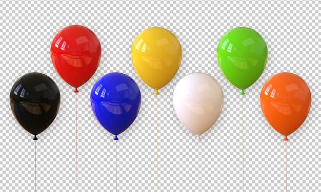 Balão realista de renderização 3d isolado Psd Premium