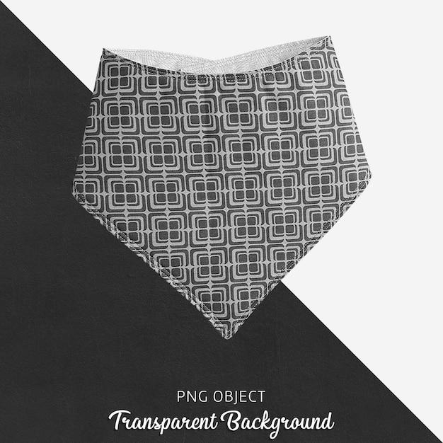Bandana estampada em preto e branco transparente Psd Premium