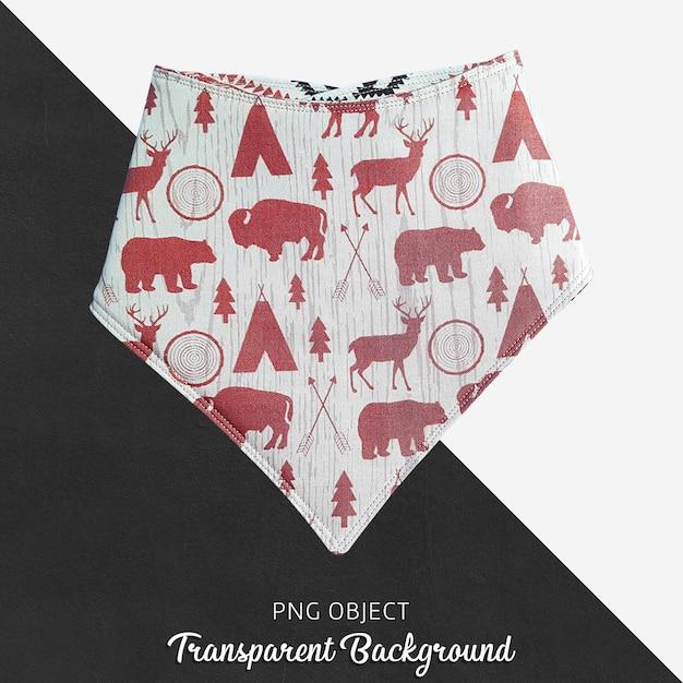 Bandana estampada vermelha para bebê ou crianças em fundo transparente Psd Premium