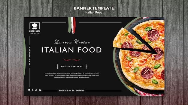 Bandeira de comida italiana Psd grátis