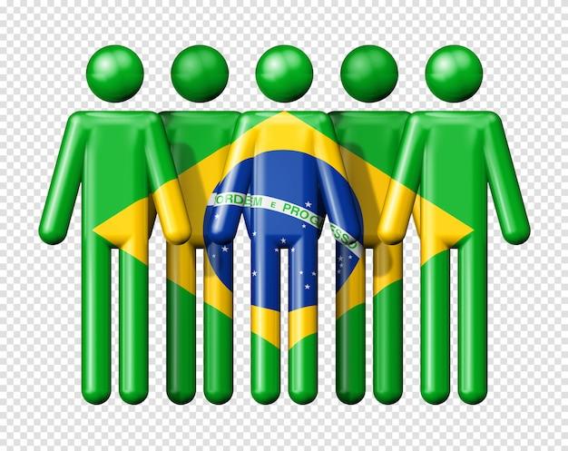 Bandeira do brasil na figura de pau Psd Premium