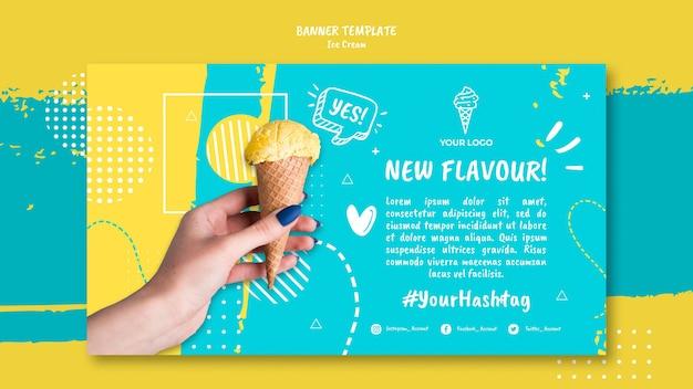 Banner com conceito de sorvete Psd grátis